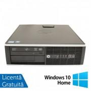 Calculator HP 8200 SFF, Intel Core i5-2400 3.10GHz, 4GB DDR3, 250GB SATA, DVD-ROM, Port Serial, Display Port + Windows 10 Home (Top Sale!)