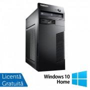 Calculator Lenovo ThinkCentre M71e Tower, Intel Core i3-2120 3.30GHz, 4GB DDR3, 250GB SATA + Windows 10 Home