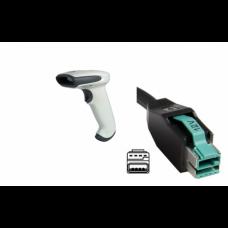 Cititor cod de bare Honeywell Hand Held 3800G Adaptus 3800G05E, 12v USB Host Powered Cable