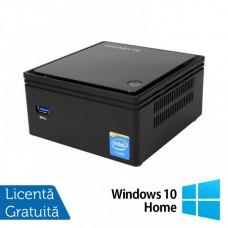 Calculator Gigabyte GB-BXBT-2807 Mini PC, Intel Celeron N2807 1.58-2.16GHz, 4GB DDR3, 60GB SSD + Windows 10 Home
