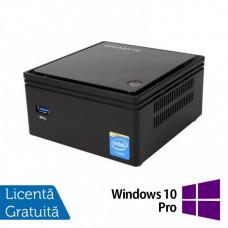 Calculator Gigabyte GB-BXBT-2807 Mini PC, Intel Celeron N2807 1.58-2.16GHz, 4GB DDR3, 60GB SSD + Windows 10 Pro