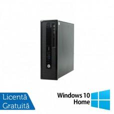 Calculator HP 400 G1 SFF, Intel Core i5-4570 3.20GHz, 4GB DDR3, 500GB SATA, DVD-RW + Windows 10 Home