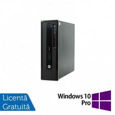 Calculator HP 400 G1 SFF, Intel Core i5-4570 3.20GHz, 8GB DDR3, 120GB SSD, DVD-RW + Windows 10 Pro