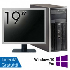 Pachet Calculator HP 6200 Tower, Intel Core i3-2100 3.10GHz, 4GB DDR3, 250GB SATA, DVD-ROM + Monitor 19 Inch + Windows 10 Pro (Top Sale!)
