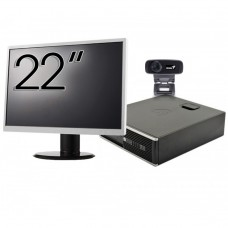 Pachet Calculator HP 6300 SFF, Intel Core i3-2120 3.30GHz, 4GB DDR3, 500GB SATA + Monitor 22 Inch + Webcam + Tastatura si Mouse