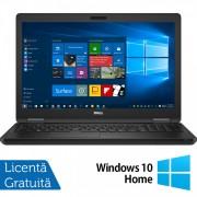 Laptop Dell Latitude E5580, Intel Core i5-7300U 2.60GHz, 8GB DDR4, 256GB SSD M.2, Full HD, Webcam, 15.6 Inch + Windows 10 Home
