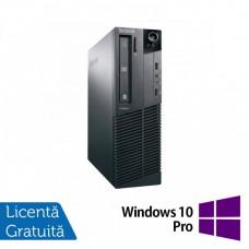 Calculator Lenovo M81 SFF, Intel Core i3-2100 3.10GHz, 4GB DDR3, 250GB SATA, DVD-ROM + Windows 10 Pro