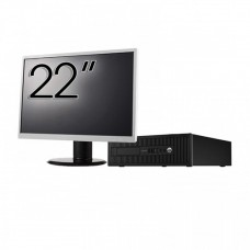 Pachet Calculator HP 800 G1 SFF, Intel Core i7-4770 3.40GHz, 16GB DDR3, 240GB SSD + Monitor 22 Inch