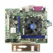 Placa de baza Intel DH61WW, Socket 1155, 2x DDR3, cu Shield + CPU Intel Pentium G640 2.80GHz + Cooler
