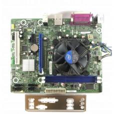 Placa de baza Intel DH61WW, Socket 1155, 2x DDR3, cu Shield + CPU Intel Core i5-2400 3.10GHz + Cooler