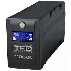 UPS TED Line Interactive 1100VA/600W, display LCD, 4 x Schuko