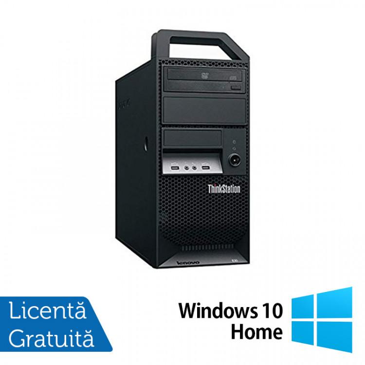 Workstation Lenovo ThinkStation E30 Tower, Intel Xeon Quad Core E3-1220 3.10GHz-3.40GHz, 8GB DDR3, 1TB SATA, nVidia Quadro 2000/1GB, DVD-ROM + Windows 10 Home