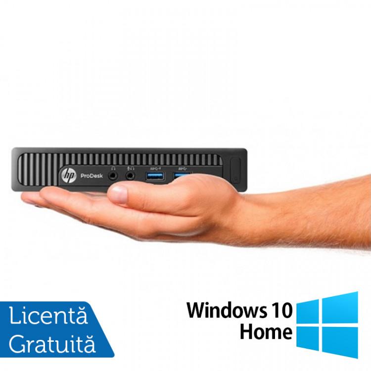 Calculator HP EliteDesk 800 G1 Mini PC, Intel Core i5-4570T 2.90GHz, 4GB DDR3, 500GB SATA + Windows 10 Home