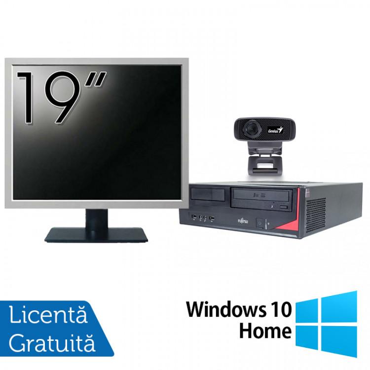 Pachet Calculator Fujitsu E420, Intel Pentium G3260 3.30GHz, 4GB DDR3, 500GB SATA + Monitor 19 Inch + Webcam + Tastatura si Mouse + Windows 10 Home