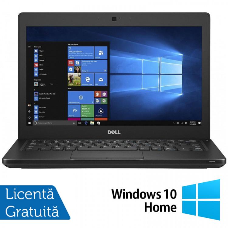 Laptop DELL Latitude 5280, Intel Core i5-7200U 2.50GHz, 8GB DDR4, 120GB SSD M.2, 12.5 Inch, Webcam + Windows 10 Home