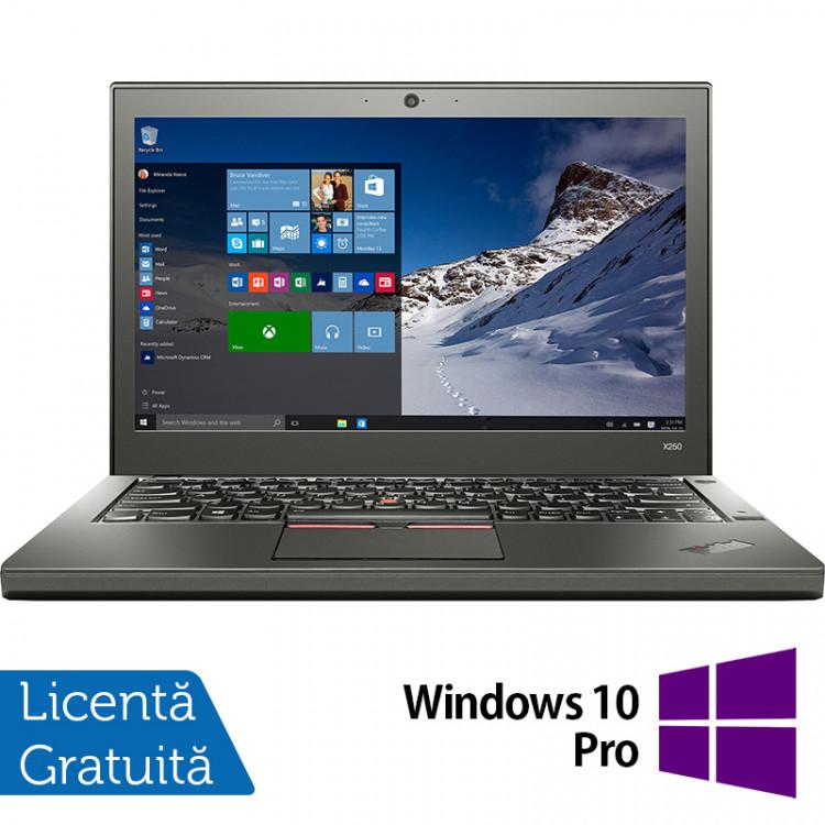 Laptop Lenovo Thinkpad X250, Intel Core i5-5300U 2.30GHz, 8GB DDR3, 500GB SATA, Webcam, 12.5 Inch + Windows 10 Pro