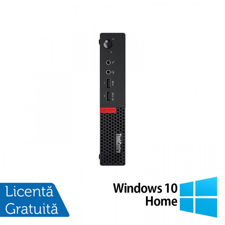 Calculator Lenovo Mini PC M910, Intel Core i5-7500T 2.70GHz, 4GB DDR3, 120GB SSD + Windows 10 Home
