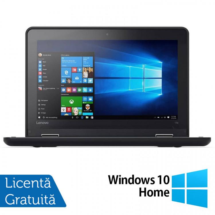 Laptop LENOVO Yoga 11e, Intel Celeron N3150 1.60GHz, 4GB DDR3, 120GB SSD, Touchscreen, Webcam, 11.6 Inch + Windows 10 Home